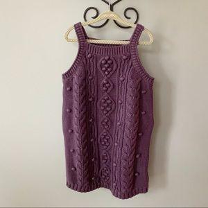 Stella McCartney For Gap Plum Knit Jumper Dress